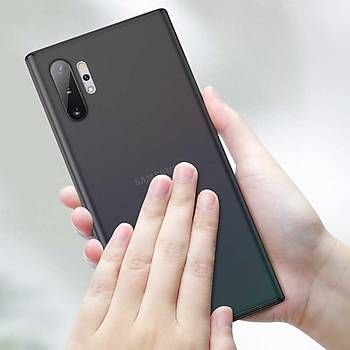 Benks Galaxy Note 10 Plus Lollipop Trasnparan Kýlýf Beyaz
