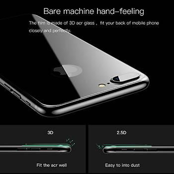 Lito 3D Full Cover iPhone 8 Cam Ekran Koruyucu Arka / Beyaz