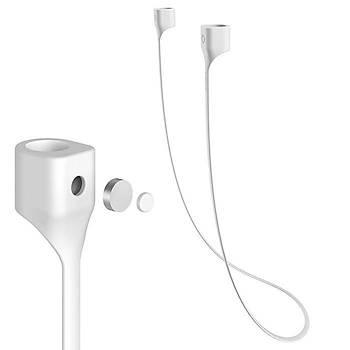 Baseus Strap Serisi Apple AirPods Kulaklýk Askýsý Beyaz