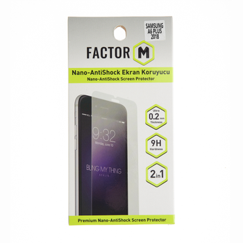 Factor-M Samsung A6 Plus 2018 Nano Darbe Önleyici Ekran Koruyucu