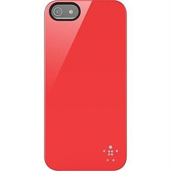 Belkin Shield Polikarbon iPhone 5/5s Sert Kýlýf Kýrmýzý - F8W159vfC04