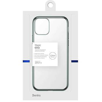 Benks Magic Glitz Ultra Transparan iPhone 11 Kýlýf Yeþil