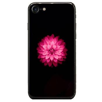 AntDesign iPhone 7 / iPhone 8 Cam Baský Desenli Kýlýf Flower