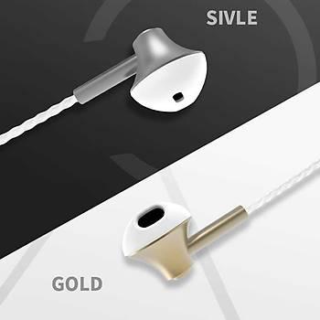 ????Xipin HX545 Kulak içi Stereo Kulaklýk 3.5 mm Jack Silver