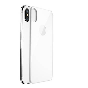 Lito 3D Full Cover iPhone X/XS 5,8 Cam Ekran Koruyucu Arka/Beyaz