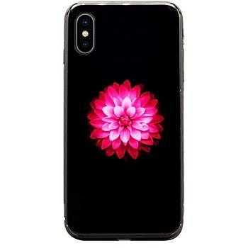 AntDesign iPhone X / iPhone XS 5,8 Cam Baský Desenli Kýlýf Flower