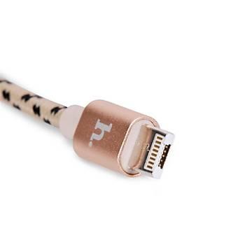 Hoco X3 Ýp Örgü Alüminyum Micro Usb/Lightning Hýzlý Þarj Kablosu