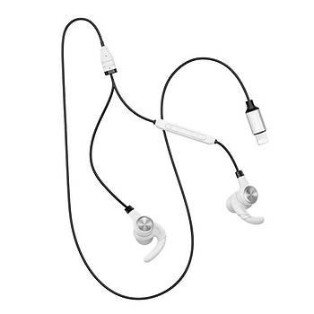 Baseus Encok P31 Lightning Giriþli Mikrofonlu Kulaklýk Beyaz