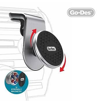 Go Des GD-HD676 Magnetic Havalandýrma Araç Ýçi Telefon Tutucu Siyah