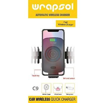 Wrapsol C9 Hýzlý Wireless Araç Þarjý Ve Telefon Tutucu
