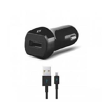 TTEC Hýzlý Þarj Özellikli Micro USB li  2.1 A Micro Araç Þarj Aleti Siyah