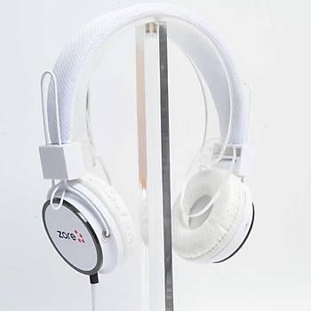 Zore Y-6338 MP3 3.5mm Jack Giriþli Kulaklýk Beyaz