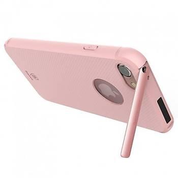 Baseus Hermit Bracket iPhone 7 Plus Stand Özellikli Kýlýf Pembe