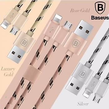 Baseus Portman 2in1 1,2M Micro Usb Lightning Data Þarj Kablosu