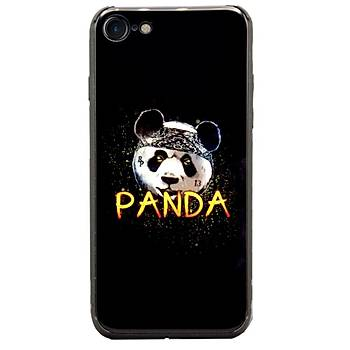 AntDesign iPhone 7 / 8 Cam Baský Desenli Kýlýf Kung Fu Panda