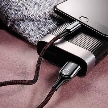 Baseus C-Shaped Serisi iPhone Lightning Data Þarj Kablosu Kýrmýzý
