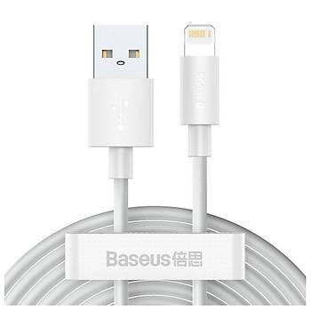 Baseus Wisdom USB- Lightning 2.4A Þarj Kablosu 2ADET Set 1.5metre