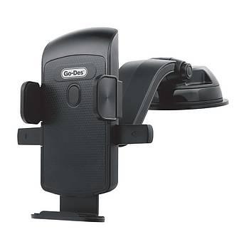 Go-Des GD-HD699 Araç Ýçi Telefon Vantuzlu Mandallý Tutucu Siyah