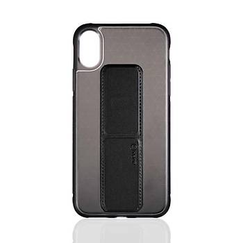 Roar Apple iPhone X / XS 5.8 Aura Standlý Þeffaf Silikon Kýlýf Black