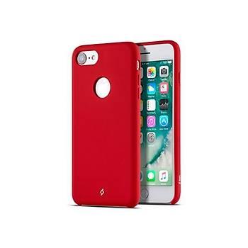 Ttec Smooth L Yumuþak Dokulu iPhone 8 / iPhone 7 Kýlýf Kýrmýzý