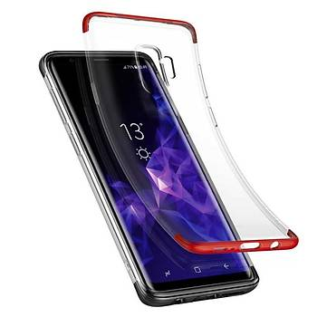 Baseus Armor Samsung Galaxy S9 Darbeye Dayanýklý Kýlýf Kýrmýzý