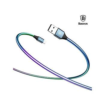 Baseus Discolor iPhone Lightning 2A 1M Data Þarj Kablosu Mavi