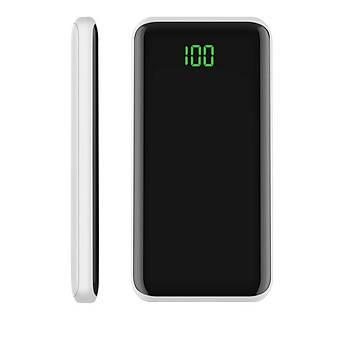 Xipin X20 Serisi Dijital Göstergeli 10000 Mah 2USB li Powerbank Siyah