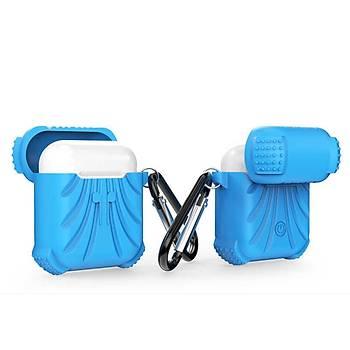 AntDesign Airbag Serisi Apple AirPods Silikon Kýlýf Mavi