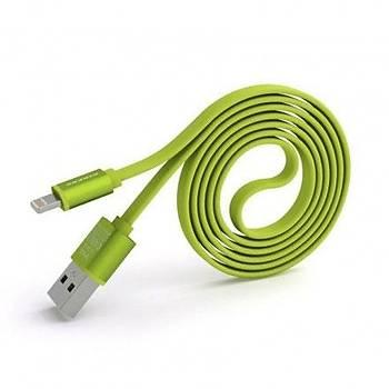 Pineng Pn-302 Lightning ( Apple ) 1 Metre Data Þarj Kablosu Yeþil