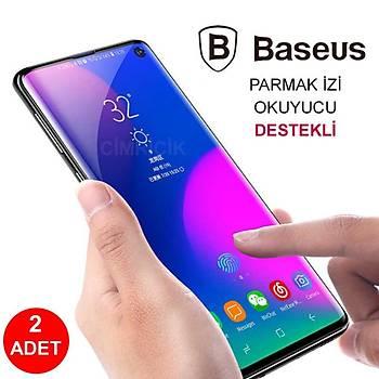 Baseus Samsung Galaxy S10 Plus Full-Screen Ekran Koruyucu 0.15mm Siyah