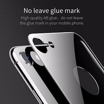 Baseus 4D Arc iPhone 7/8 Tam Kaplayan Arka Cam Koruyucu Füme