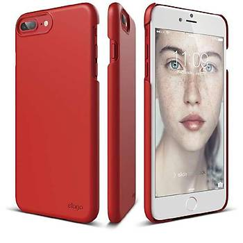 Elago iPhone 7 / iPhone 8 Slim Fit 2 Jean Indigo Kýlýf Kýrmýzý