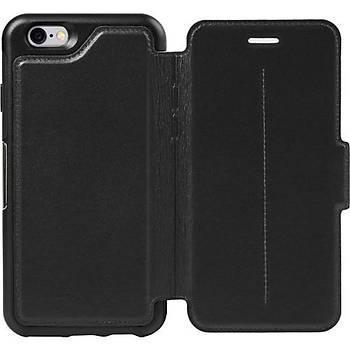 OtterBox Apple iPhone 6/6S Plus Strada Folio Suni Deri Kýlýf Siyah