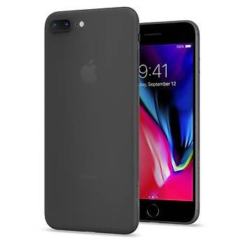 Spigen iPhone 7 Plus Air Skin Ultra Ýnce Tam Koruma Kýlýf Black