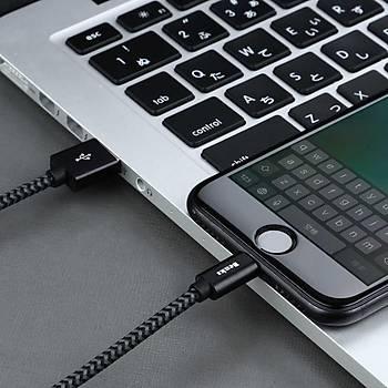 Benks M07 MFI Lisanslý Ýphone Þarj ve Data Kablosu 1.2M 2.4A Black