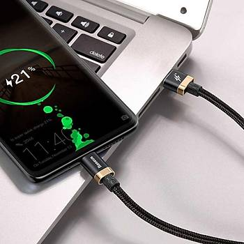 Baseus Huawei Hýzlý Þarj Kablosu USB ve Type-C 2 Metre Kýrmýzý