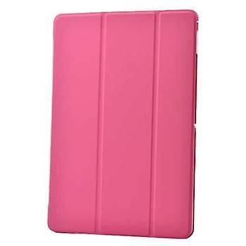 AntDesign Apple iPad Air Smart Cover Standlý Kýlýf Koyu Pembe