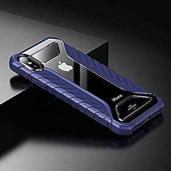 Baseus Michelin iPhone XR 6.1 Darbeye Dayanýklý Kýlýf Mavi