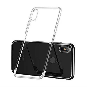 Baseus Glitter Serisi iPhone X / iPhone XS 5,8 TPU Kýlýf Beyaz