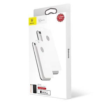 Baseus 4D Arc iPhone 7/8 Tam Kaplayan Arka Cam Koruyucu Gri