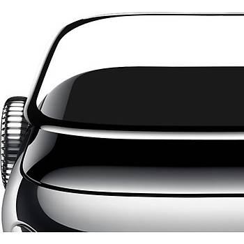 Apple Watch 40mm Baseus 0.3mm Full Screen Curved Tamperli Cam Ekran Koruyucu Film Siyah