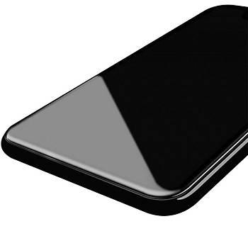 Piili 6D Eðimli Kenar Ön iPhone 8 Plus Cam Ekran Koruyucu Siyah