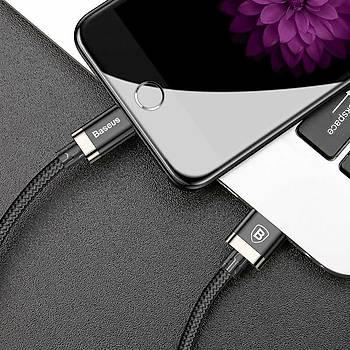 Baseusen Belt Çelik Örgü Kopmaz iPhone Ligtning 1,5M Þarj Kablosu