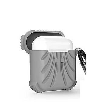 AntDesign Airbag Serisi Apple AirPods Silikon Kýlýf Gri