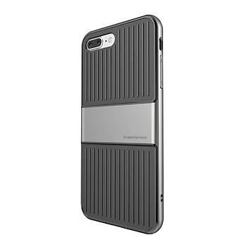 Baseus Travel iPhone 7 Plus/8 Plus Çift Katmanlý Kýlýf Gümüþ