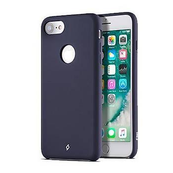 Ttec Smooth L Yumuþak Dokulu iPhone 8 / iPhone 7 Kýlýf Lacivert