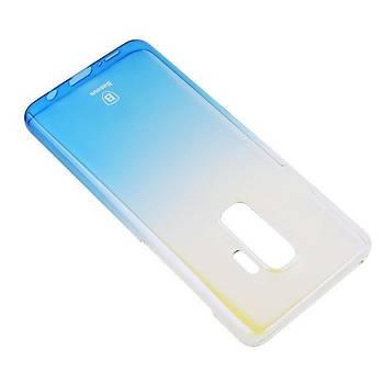 Baseus Glaze Galaxy S9 Plus Ultra Slim Transparan Kýlýf Mavi