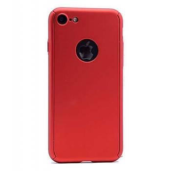 AntDesign Apple iPhone 7 / iPhone 8 360 Derece 3 Parça Tasarým Sert Silikon Kýlýf T4195