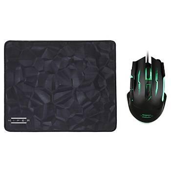 Hiper Black Wýdow X20 Gaming Programlanabilir 3200Dpý Mouse ve Mouse Pad Set