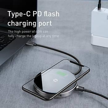 Baseus Circular Mirror Wireless Charger Hub Type-c To Usb 3.0 1+U